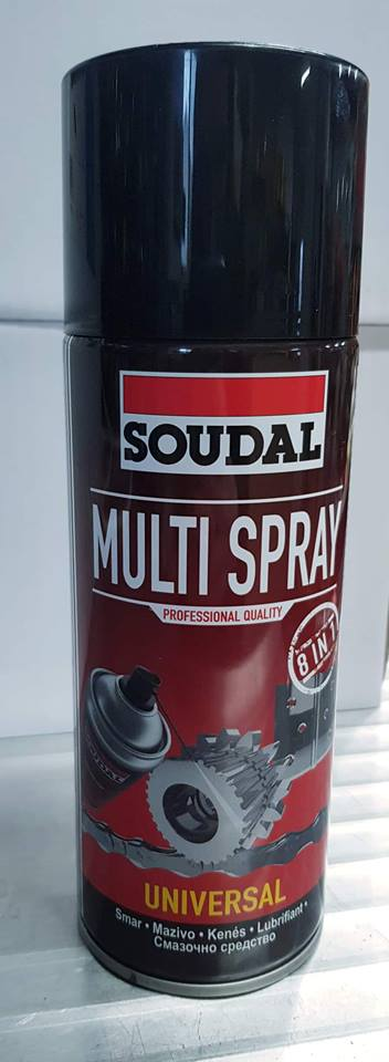 Soudal - MULTI SPREJ  8v1 - 400ml  Multi spray